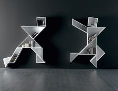 Give your indoors the charm of a geometric design in the form of these Tangram Shelves by Lago Italy. You can choose to design these shelves in the form Minimalist Bookshelves, Creative Bookshelves, Bookshelf Design, Modern Storage Furniture, Unique Furniture, Furniture Design, Furniture Online, Etagere Design, Geometric Shelves