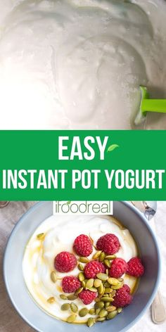 How to make Instant Pot Yogurt with just 2 ingredients! Check out how to make yogurt without a yogurt button, Greek yogurt, vanilla yogurt, cream cheese and what to do with leftover whey. Healthy Family Meals, Healthy Breakfast Recipes, Healthy Desserts, Healthy Recipes, Healthy Food, Instant Pot Yogurt Recipe, Vanilla Greek Yogurt, Yogurt Recipes, Food Website