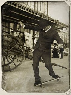 Skateboarding 1900 (revisionist). Cool picture - movie clip