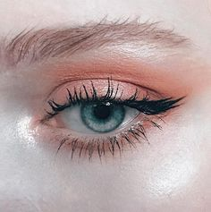 peach eye make up