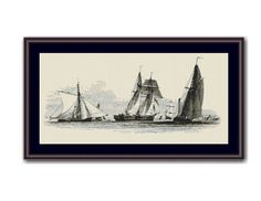 Smack, Schooner & Barge Counted Cross Stitch Pattern / Chart,  Nautical Instant Digital Download   (AP409) Nautical Quilt, Nautical Design, Nautical Theme, Applique Embroidery Designs, Custom Embroidery, Ocean Themes, Counted Cross Stitch Patterns, Quilt Patterns, Pirates