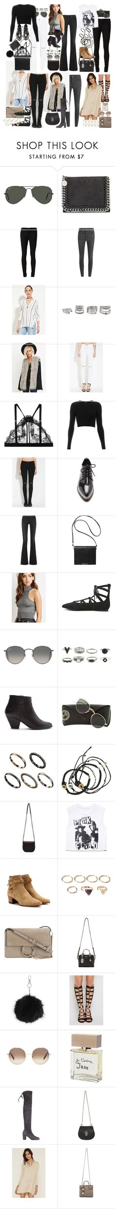 """Inspired with items from forever 21"" by nikka-phillips ❤ liked on Polyvore featuring Ray-Ban, STELLA McCARTNEY, rag & bone/JEAN, Cheap Monday, Forever 21, Mimi Holliday by Damaris, Topshop, rag & bone, Monki and ASOS"