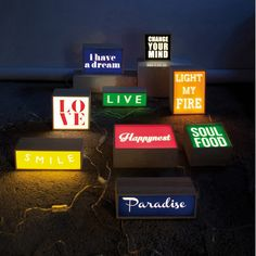 Seletti Light box Change your mind/Love/Soul food-product