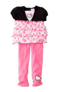 Ruffle Skirted Tunic & Legging 2-Piece Set (Toddler Girls)