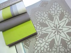 Casadeco Lime Green and Grey from our European Designers page!