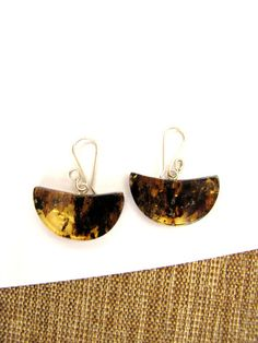 Amber earrings from Chiapas, Mexico