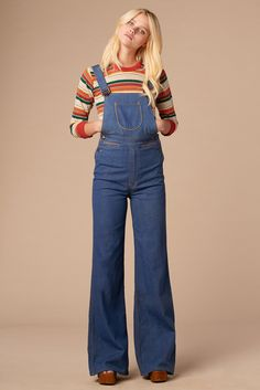 Summertime Blues 70's Overalls