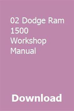 dodge ram 1500 repair manual pdf