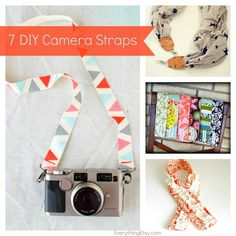 7 DIY Camera Strap Tutorials - EverythingEtsy.com #diy #photography