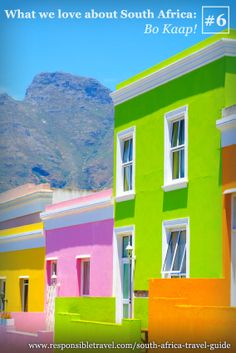 awesome Cape Town, South Africa - colourful houses from Cathay Pacific Airways. Beautiful World, Beautiful Places, Colourful Buildings, Colorful Houses, Cape Town South Africa, Colour Architecture, Cozy Nook, Africa Travel, Oh The Places You'll Go
