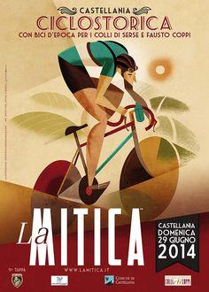 Scarica il poster de' La Mitica! #bicycle #illustration Bicycle bike cycle sykkel bicicleta vélo bicicletta rad racer wheels