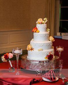 Wedding cake.  Sweet Memories Bakery.  Raleigh weddings.