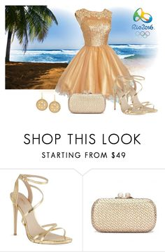 """""""Rio Gold"""" by sjlew ❤ liked on Polyvore featuring Opening Ceremony, Carvela and Hint of Gold"""