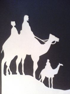 Scherenschnitte 17 - camels