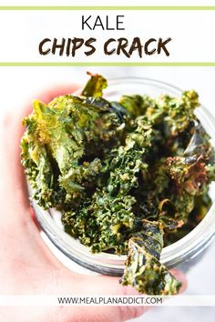 Kale Chips | Veggie Chips | Healthy Snack | Snack Recipe | Kale Recipe | Meal Plan Addict
