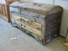 Beautiful Barnwood Chest from Andersen's Cabinet and Furniture in Fremont, Utah.they make great stuff!