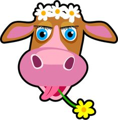 Free Cow Clip Art of Cartoon cow clipart free stock photo public domain pictures image for your personal projects, presentations or web designs. Cow Pictures, Pictures Images, Animal Pictures, Cartoon Cow Face, Public Domain, Bull Images, Cow Drawing, Cow Vector, Pink Cow