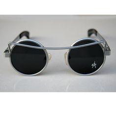 Round sunglasses Steampunk sunglasses vintage gold by hitekdesigns