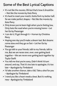 A few of the Greatest Lyrical Captions Instagram Caption Lyrics, Attitude Caption For Instagram, Instagram Picture Quotes, Instagram Captions For Selfies, Instagram Funny, Instagram Ideas, Badass Captions, Lit Captions, Selfie Captions