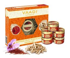 Vaadi Herbals Saffron Skin Whitening Facial Kit with Sandalwood Extract, 270g #Vaadi