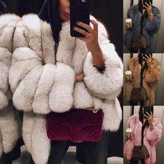 Women Casual Jacket Plus Size Short Faux Fur Coat Warm Furry Jacket Long Sleeve Outerwear Autumn Winter Loose Overcoat Outwear * - Faux Coat, Faux Fur Parka, Parka Coat, Faux Fur Jacket, Smartwatch, Mode Mantel, Long Overcoat, Anais Nin, Teddy Coat
