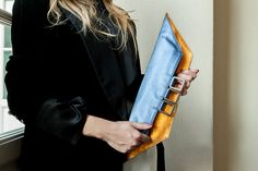 fold over metallic leather clucth 3 ways clutch by vquadroitaly