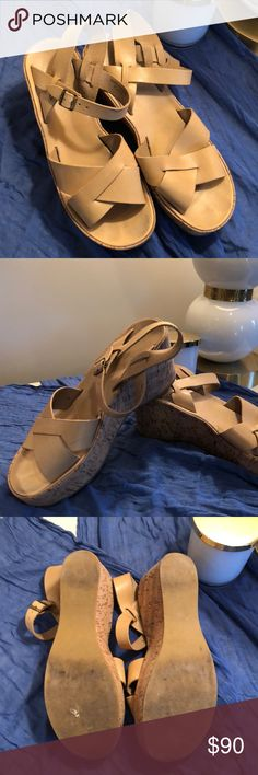 Kork-Ease Sandals These are comfortable and durable. Great quality leather sandals with about a 3 inch platform Kork-Ease Shoes Wedges