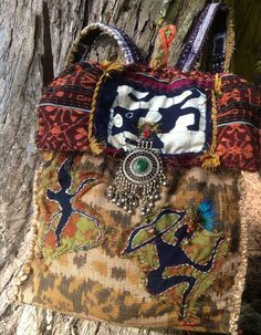 NAPA VALLEY Backpack -- Tribal, Ikat, Boho, Hippie, Vintage, one of a kind -- CUSTOM Order