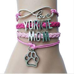 Yorkie Mom Wrap Bracelet
