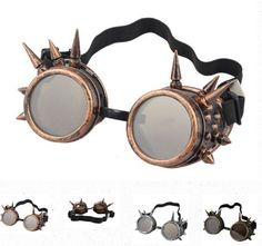 Epic steampunk goggles for true steampunks. https://www.steampunkempirestore.com/products/steampunk-spiked-goggles