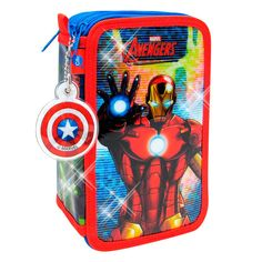 Estuche 3 pisos Glitter Avengers