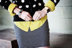 Lime, polka dots, stripes