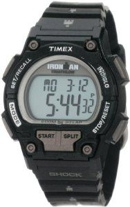 Timex Men's T5K5569J Sport Ironman Black Full Size Shock 30 Lap Watch Timex. Save 15 Off!. $50.97. Shock-resistant to ISO standards. Two time zones. Daily, weekday and weekend alarm. Water-resistant to 660 feet (200 M). 100 hour chronograph