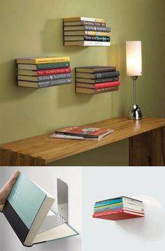 Estanterías invisibles para libros