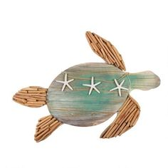 """One of my favorite discoveries at ChristmasTreeShops.com: 28"""" Driftwood Turtle Wall Decor"""