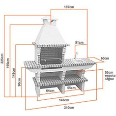 A beautiful brick BBQ with sink and chimney for DIY. It comes complete for you to assemble with ease in your garden. Brick Built Bbq, Brick Grill, Brick Shelves, Garden Sink, Brick And Mortar, Stainless Steel Sinks, Brick Building, Steel Plate, Garden Inspiration