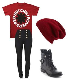 """Red Hot Chili Peppers"" by melchristie ❤ liked on Polyvore featuring Balmain, Refresh and Halogen"