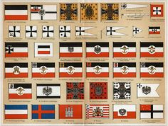 Flags of the German Empire 1871-1918