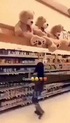 """Funny Categories Fuunyy So this is the reason for those """"Ask for assistance for items on the top shelf."""" signs……… Source by ben_kaiser Funny Pranks, Funny Fails, Funny Texts, Funny Jokes, Funny Shit, Funny Stuff, Really Funny, Funny Cute, The Funny"""