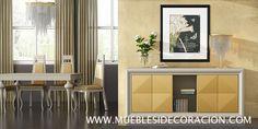 Aparador de diseño moderno incluido en el catálogo de Mueblesidecoracion. Todos los modelos y medidas en http://mueblesidecoracion.com/es/12-salones
