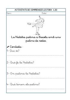 Dori dos 1112_mt006_r1_comprensio_lectora_4 Catalan Language, Homeschool, Math Equations, Audio, Texts, Reading Comprehension, Reading Comprehension, Speech Language Therapy, Storytelling