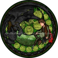 Stained Glass: Hiccup [For Real] by Akili-Amethyst on DeviantArt Httyd, Hiccup And Toothless, Toothless Dragon, Dreamworks Dragons, Disney And Dreamworks, Disney Love, Disney Art, Disney Stuff, Disney Stained Glass