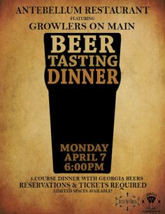 We'll be attending Antebellum Restaurant's Beer Tasting Dinner this Monday night! Are you?  | Photo Courtesy of Antebellum Restaurant