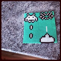 Space Invaders perler beads by parlplaneten