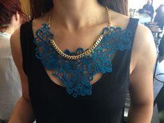 Joannie blue lace necklace