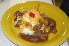 Hot Beef Sundaes #recipe by @CommonGround volunteer Dawn Caldwell. Delish!