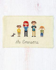 customizable cross stitch families from Martha Stewart