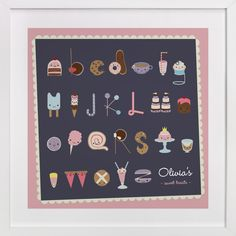Sweet Treats Alphabet by Frooted Design at minted.com