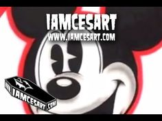 """Airbrushing Old School """"Mickey Mouse Head"""""""