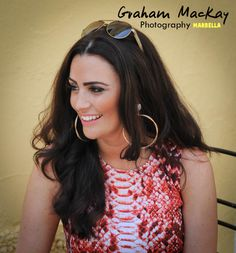 Vicki during her pre wedding shot in Orange Square, Marbella on the 9th of June 2014